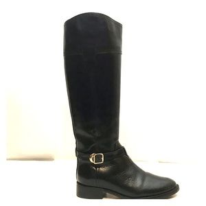 Tory Burch Tall Black Leather Riding Boots 5.5
